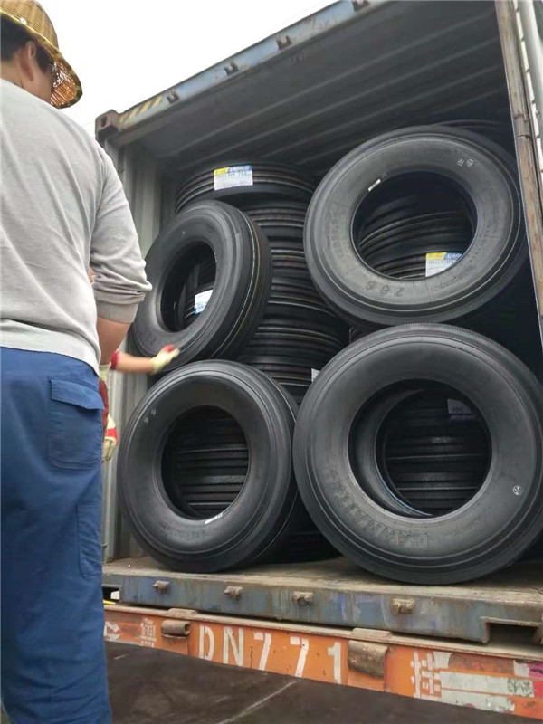 Container loading for truck tires customers from Philippines