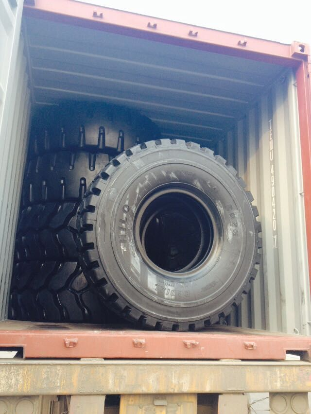 Container loading for OTR tires customers from Japan