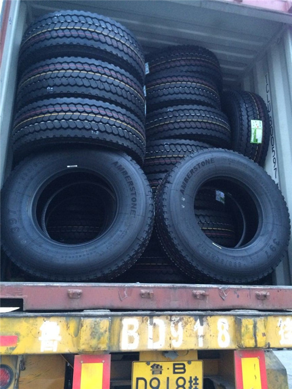 Container loading for truck tires customers from Belgium