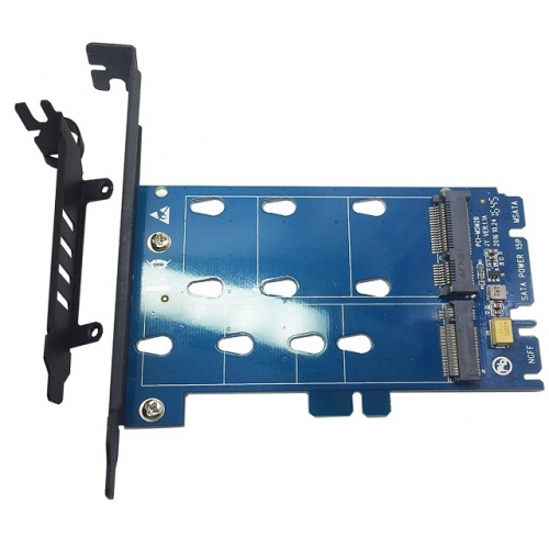GLOTRENDS PA08 2 in 1 M.2 SATA Adapter Card and mSATA SSD Adapter Card