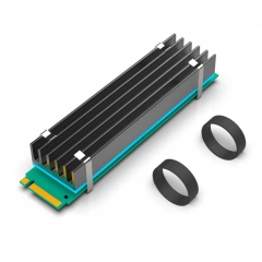 GLOTRENDS NVMe Heatsink M.2 Heatsink for 22x110 M.2 SSD with Silicone Thermal Pad (22x100x10mm)