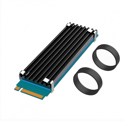 GLOTRENDS M.2 Heatsink NVME Heatsink for 2280 M.2 SSD with Silicone Thermal Pad (22x70x3mm)