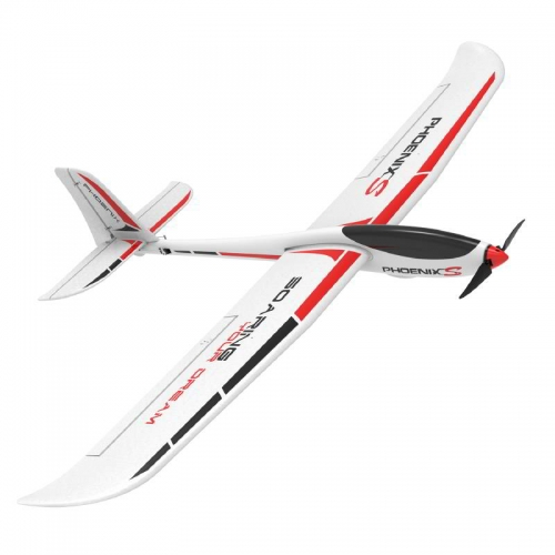 PhoenixS 4 Channel Glider with 1600MM Wingspan and Streamline ABS Plastic Fuselage and (742-7) PNP