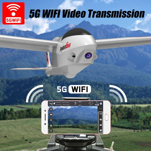Ranger600 WiFi RC Airplane Ready to Fly with 5G WIFI Video Transmission and One-Key U-Turn Function (761-2 WiFi)