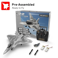 VOLANTEXRC 2.4Ghz 4-CH Remote Control Jet F22 with Xpilot Stabilizer System One Key Aerobatic Perfect for Beginners (761-7) RTF