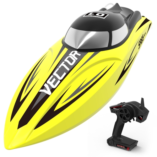 Vector SR65 35mph Super High Speed Boat with Auto Roll Back Function and backwards Function (792-5) ARTR Yellow