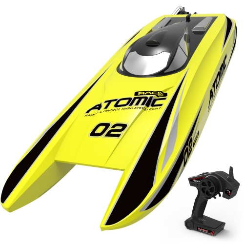 Atomic 40mph Super High Speed Boat with Auto Roll Back Function and ABS Unibody Blow Plastic Hull (792-4) ARTR Yellow