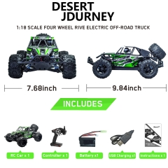 Desert Journey 1:18 Scale 4WD Off-Road RC Car with 30mph High Speed (785-3) RTR