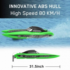 ATOMIC SR85 50mph Super High Speed Boat with Auto Roll Back Function and All Metal Hardwares (798-3) ARTR