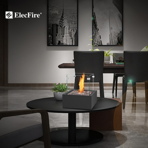 ElecFire Indoor&Outdoor Portable Tabletop Fireplace–Clean-Burning Bio Ethanol Ventless Fireplace EF-MV-16B1