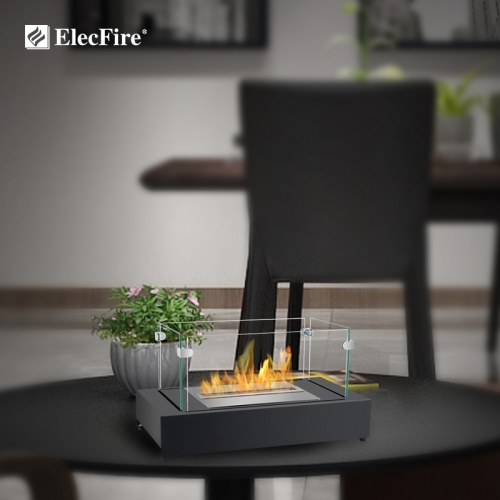 ElecFire Indoor&Outdoor Portable Tabletop Fireplace–Clean-Burning Bio Ethanol Ventless Fireplace EF-MT-21B1