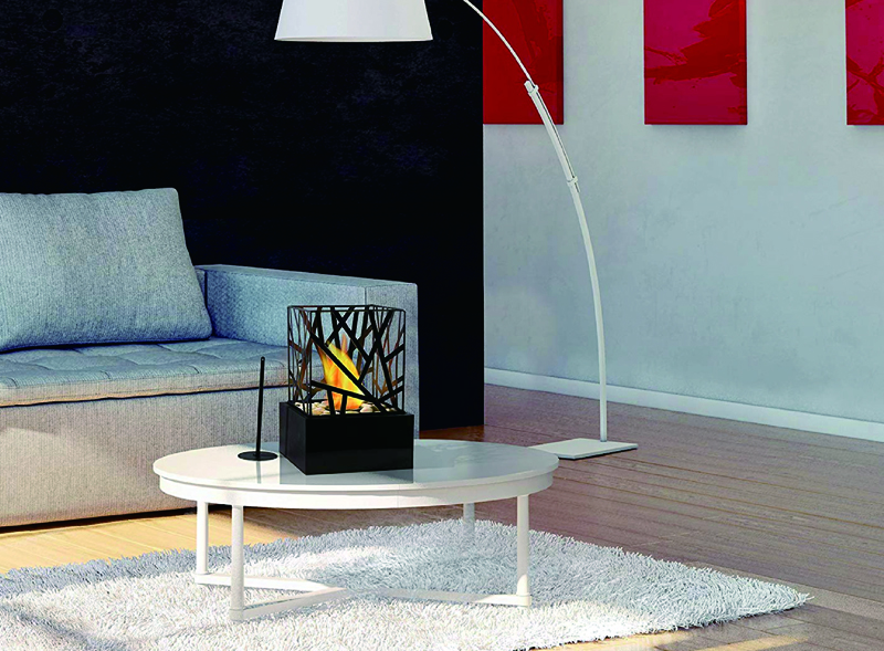 Tabeltop portable biofuel fireplace
