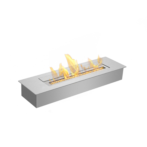 Bio ethanol burner for custom fireplaces