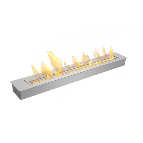 Biothanol burner for custom fireplace