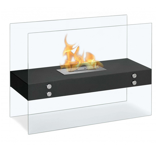 Free standing portable bioethanol fireplace