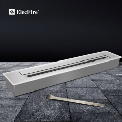ElecFire Indoor Smart&Mechanical Bio Ethanol Electronic Burner Fireplace EF-II-72B1 and Firebox