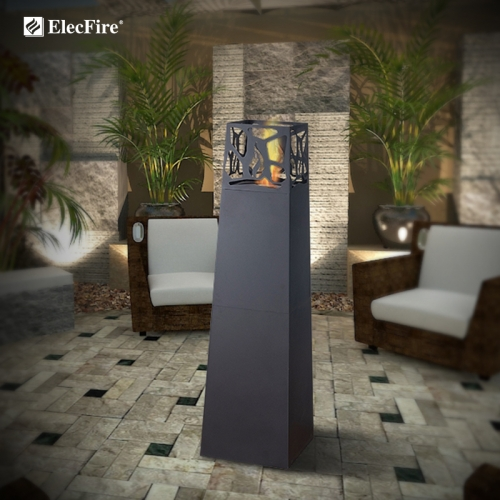 ElceFire Patio Freestanding Bio Ethanol Fireplace EF-MV-63B1
