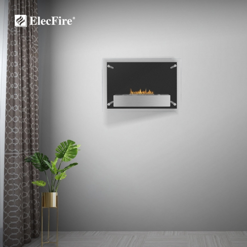 ElecFire Indoor Bio Ethanol Fireplace Wall Mounted EF-MW-24S1