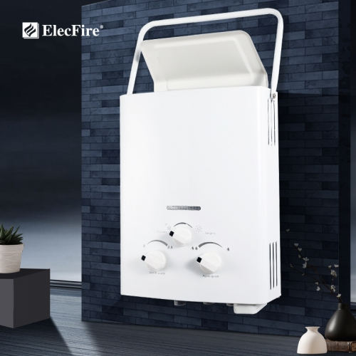 ElecFire 8L10L Outdoor LPG Gas Water Heater Thermostatic Tankless Instant Bath Boiler Shower Head JSZ11-B1H