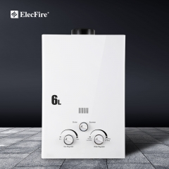 ElecFire 6~20L Gas Water Heater Household Bath Natural Liquefied Gas Strong Exhaust Thermostat Gas Flue JSD12-6B1