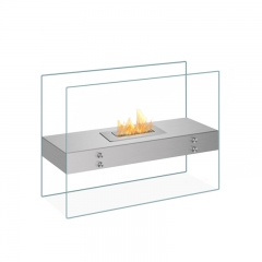 ElecFire Standing Ethanol Fireplace With Glass Walls EF-MV-31S1