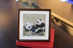 Small Frame-Silk Panda