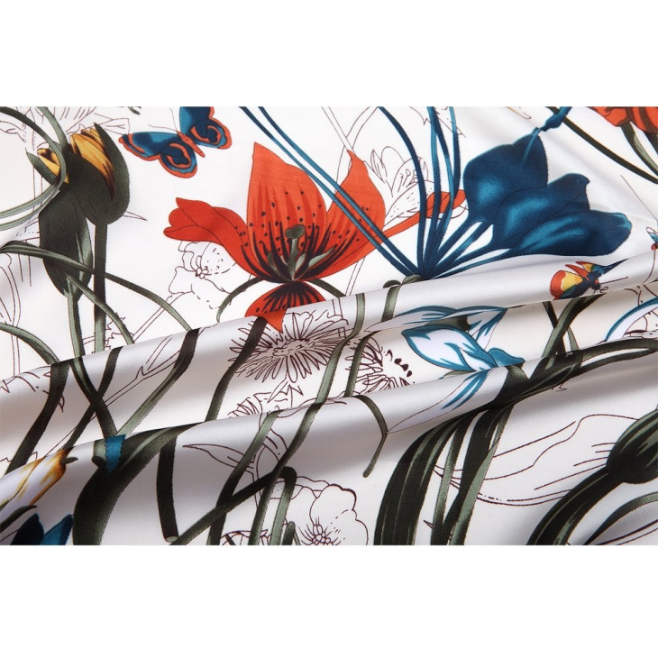 Custom Design Square Digital Print Silk Scarf
