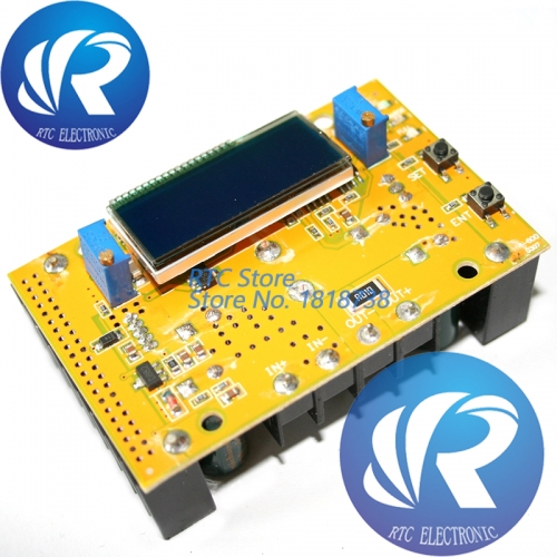 10A DC-DC Adjustable LCD Dual Display CC CV Step-down Power Supply Module Short Circuit Protection  DC-DC Boost Converter