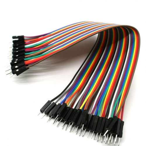 40pcs in Row Dupont Cable 20cm 2.54mm 1pin 1p-1p male to Male jumper wire
