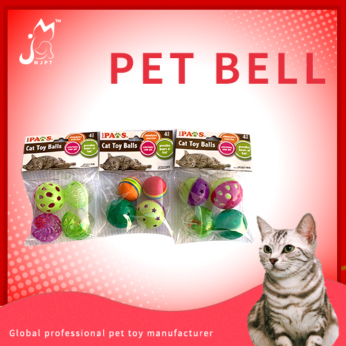 Hot selling good quality cat toy ball plastic cat toy with bell