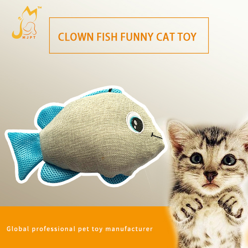 Clown Fish Shaped Cat Toy Cat Pillow Crazy Cat Catnip Pocket Pet Toy