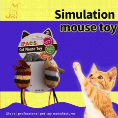 premium cheap training durable mouse pet soft stuff box cat toys for mice