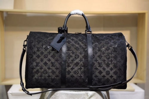 53971 Keepall duffel Mesh Embroidering Monogram Black