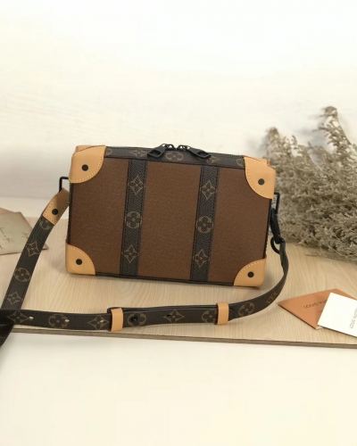 56322 [Soft Trunk] box Patchwork Brown