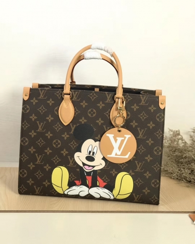 44570 [Onthego] tote Classic Monogram Brown Pattern Mickey S