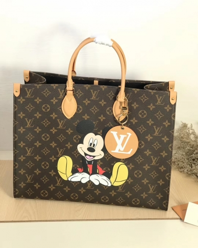 44570 [Onthego] tote Classic Monogram Brown Pattern Mickey L