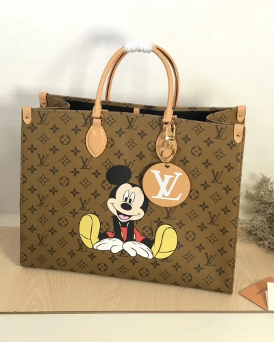 44570 [Onthego] tote Classic Monogram Yellow Pattern Mickey L