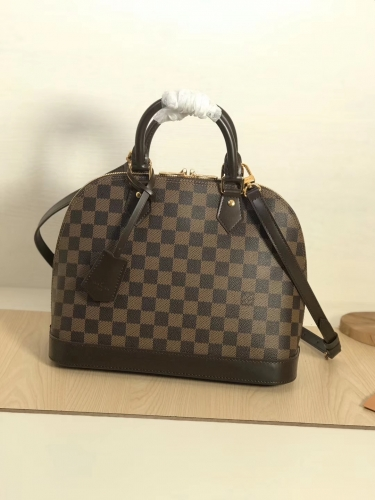 53151 Alma shell bag Brown Damier M