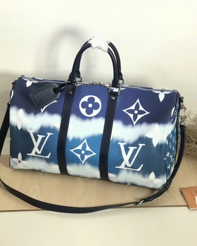 45428 [Keepall 50] duffel Printing Monogram Icecream Blue