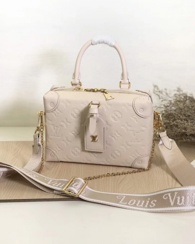 45392 [Petite Malle Souple] box Embossed Monogram White