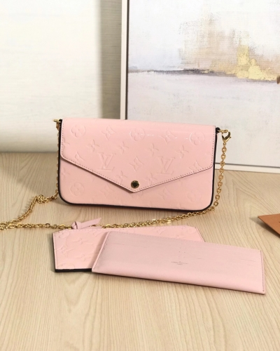 61267 [Felicie] sling Patent leather Pink