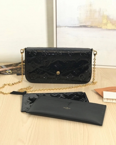 61267 [Felicie] sling Patent leather Black