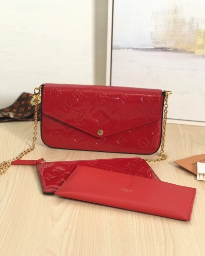 61267 [Felicie] sling Patent leather Red