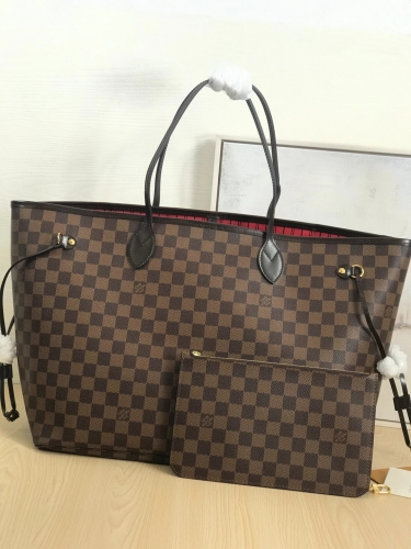 N41357 [Neverfull] tote Brown Damier Red L