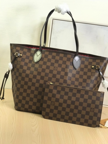 N41358 [Neverfull] tote Brown Damier Red M
