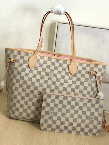 N41605 [Neverfull] tote White Damier Pink M