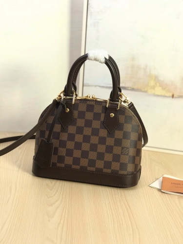 53152 [Alma] shell bag Brown Damier S