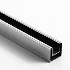 40x40x1.5mm 不銹鋼方單槽,316L 材質,拉絲
