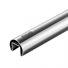 Φ42.4x1.5 mm 不銹鋼圓單槽 316L 材質 鏡面