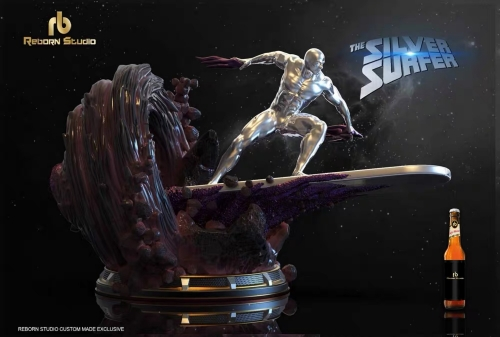 (Sold out)Custom Statue 2020 Silver Surfer 1/4 Complete Statue